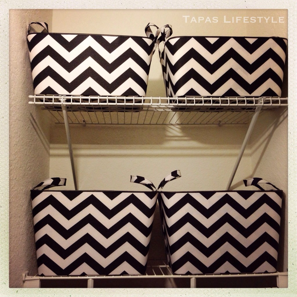 Chevron Storage Bins for my Closet - purchased at Targer