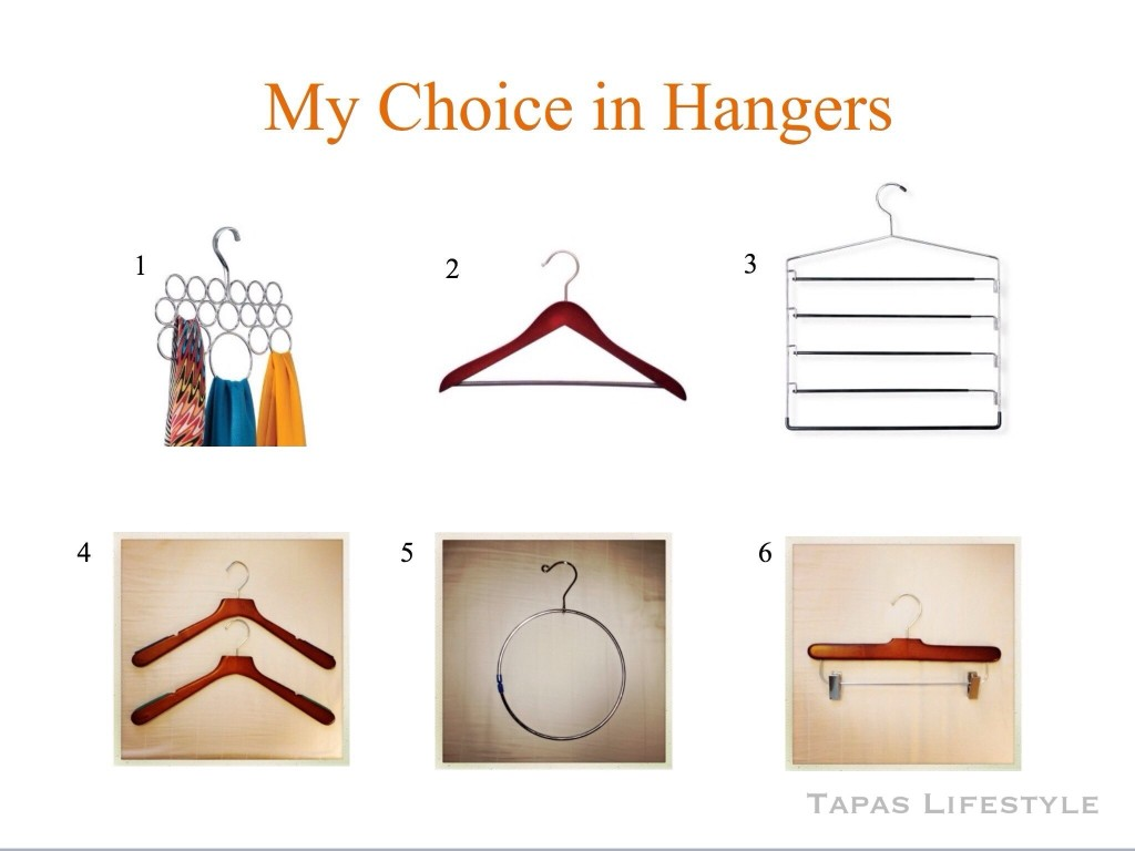 They different types of hangers I use
