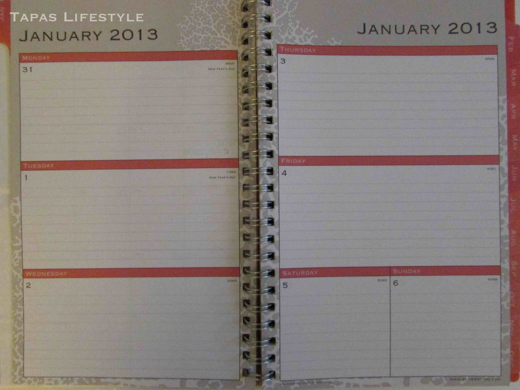The Nassau 5 x 8 planner from Blue Sky Weekly Page