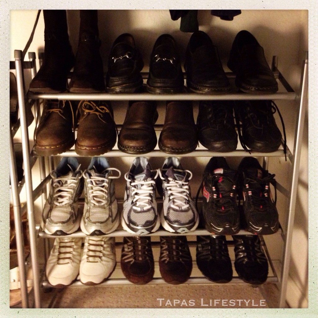 "My ""non-girly shoes"" organized"
