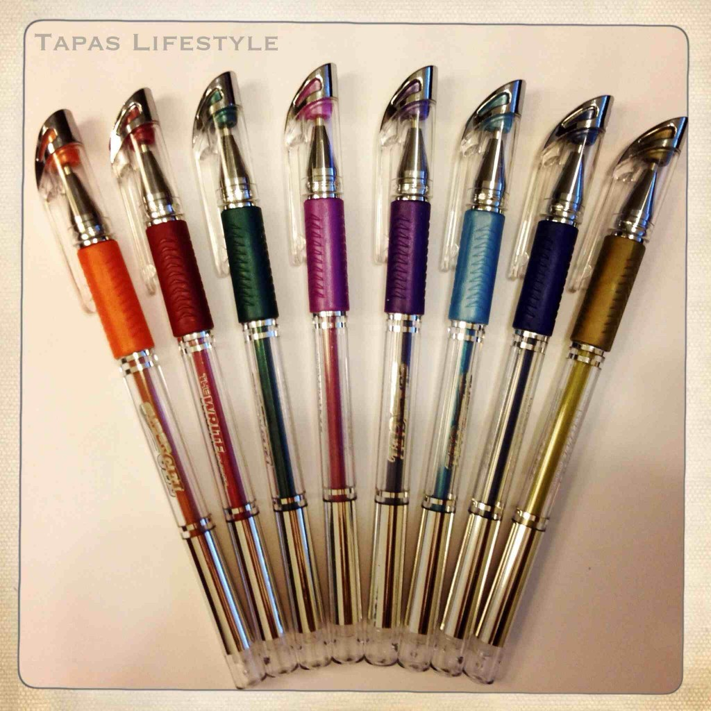Super cute colored metallic ink pens from Write Dudes