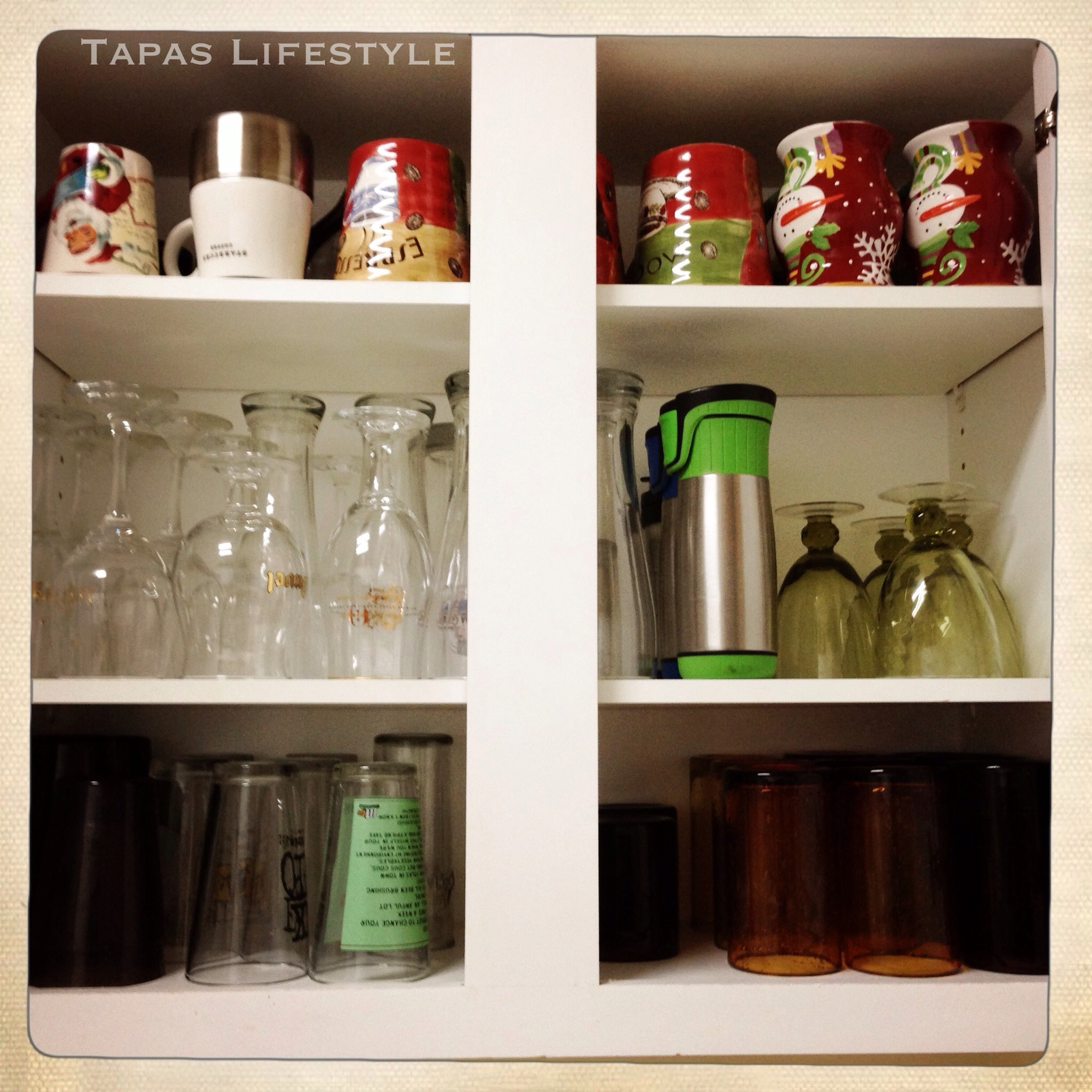 Cups And Glasses Cupboard Organization