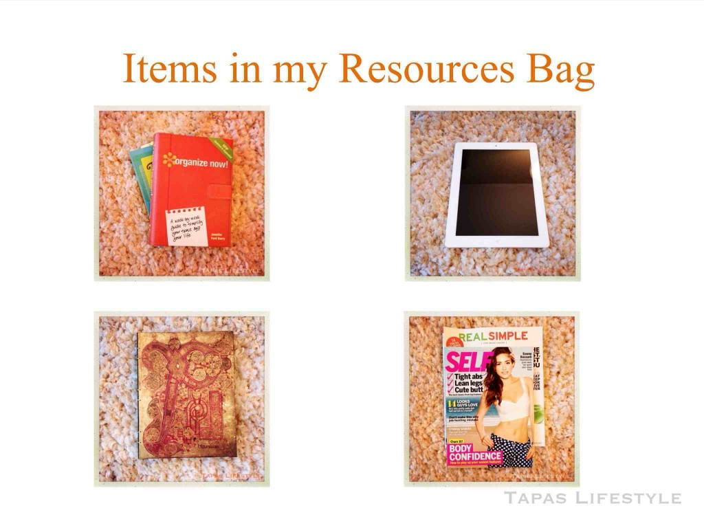Items in my Resources Bag