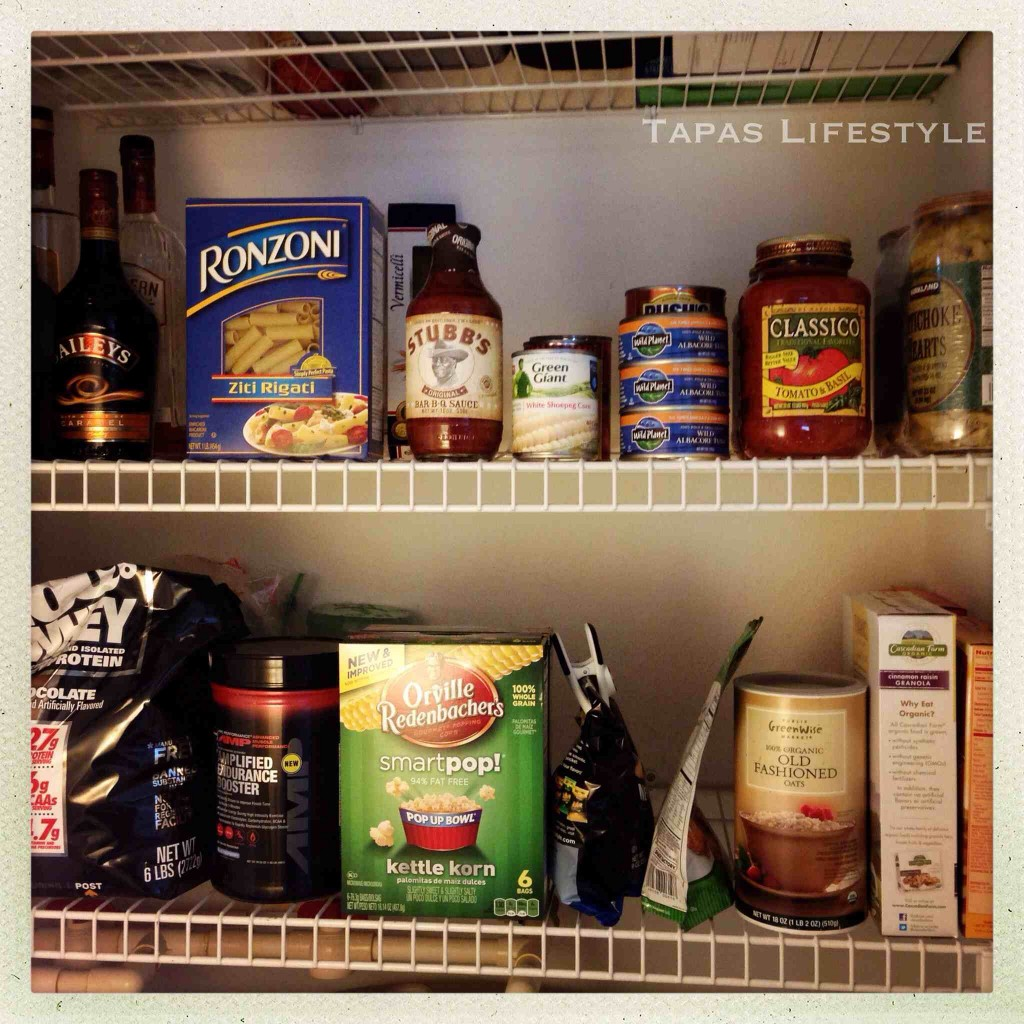 Lower Shelves in my Pantry
