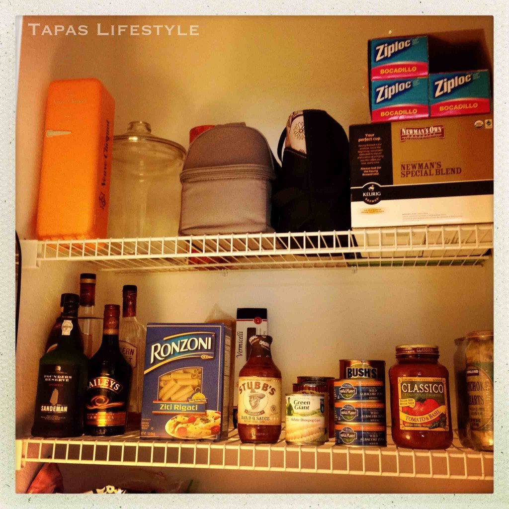 Upper Shelves in my Pantry