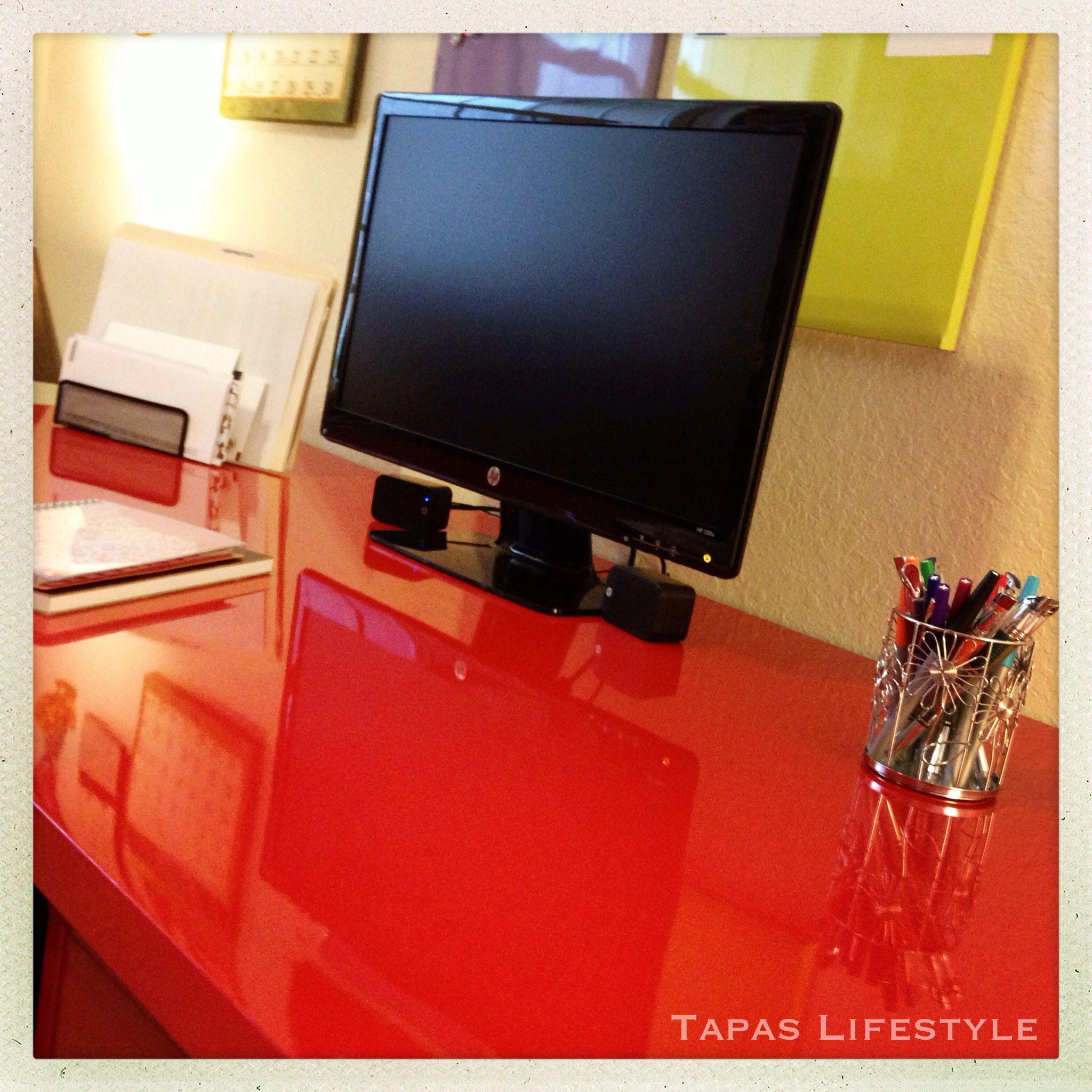 Our Home Office Desk From Ikea Vika Amon Adils