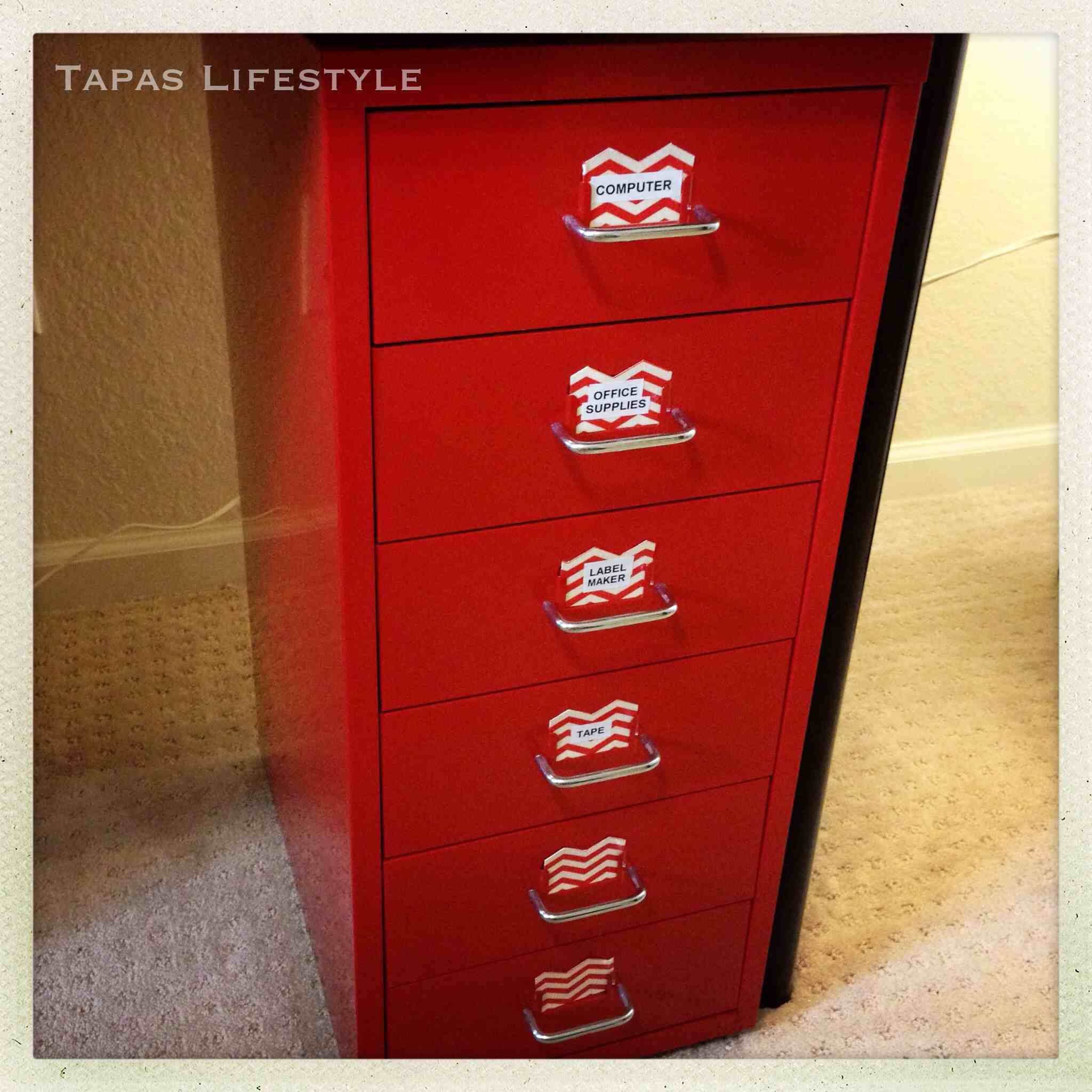 Our Home Office   Ikea Helmer  Six Drawer Unit