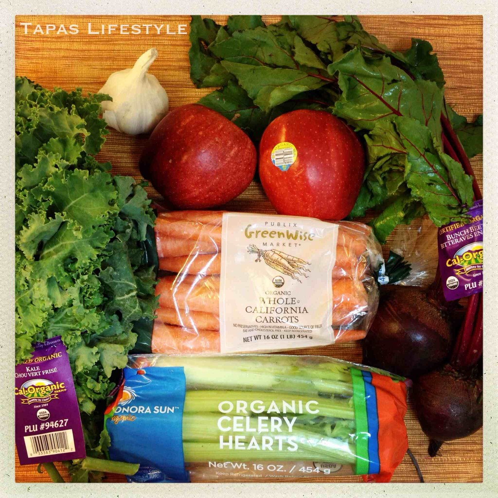 Organic Fruits & Organic Vegetables for juicing