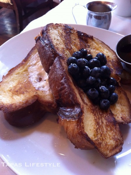Challah French Toast at Kimpton Hotel's restaurant South Water Kitchen