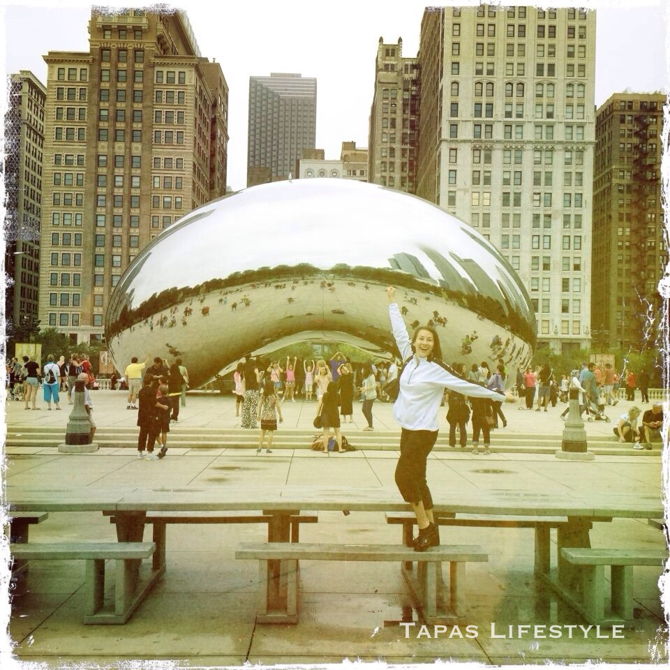Cloud Gate in Millennium Park in Chicago - day