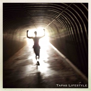 Running through a tunnel and feeling the power.