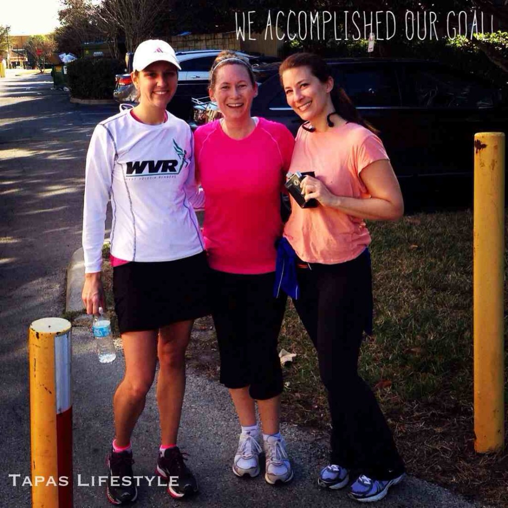 It was great that we accomplished our 10-miler training run, but, is that a flask that I'm holding?
