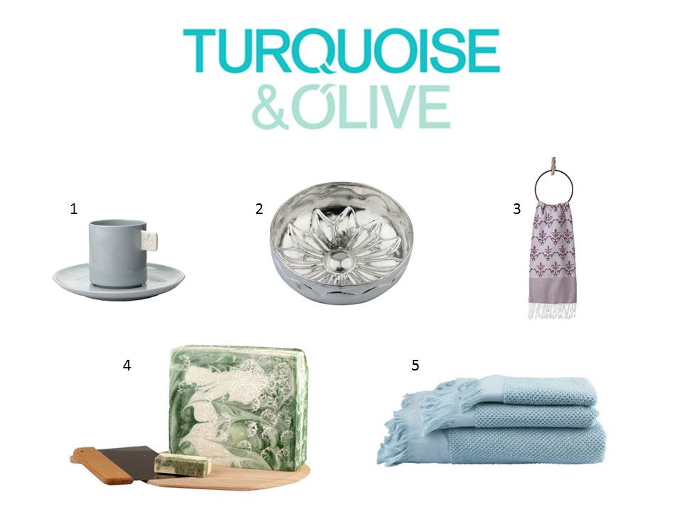 Turquoise & Olive Home Products