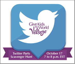 Give Kids The World - Twitter Party Scavenger Hunt