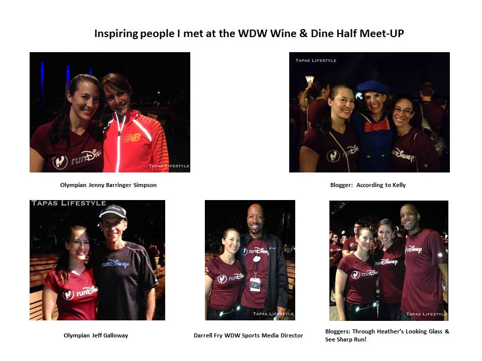 Inspiring people I met at the runDisney Wine & Dine Half Marathon Meet-UP