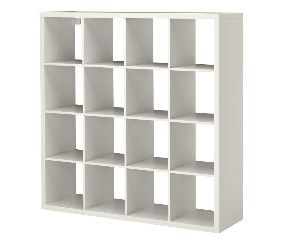 IKEA - KALLAX SHELVING UNIT - You can use the furniture as a room divider because it looks good from every angle. {photo & description via IKEA}