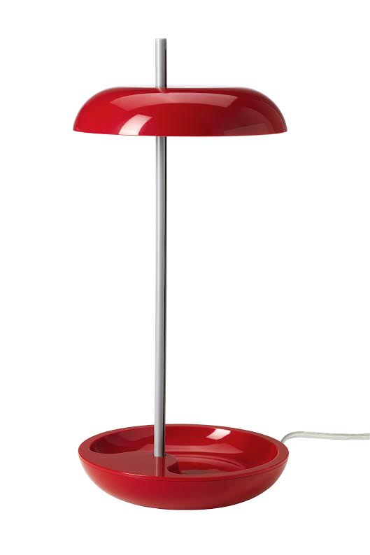 IKEA - LEKARYD - LED Table Lamp - Keep your coins, jewelry, rubber bands, clips or business cards right where you can find them in the bowl at the base of the lamp. {photo & description via IKEA}