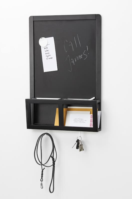 IKEA - LUNS - Writing-Metallic Board - Perfect for keys, mail and mobile phones. You can write messages with chalk and use magnets on the board. {photo & description via IKEA}