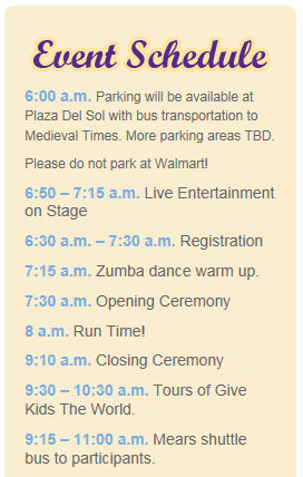 Gingerbread Run 5k - GKTW - Event Schedule