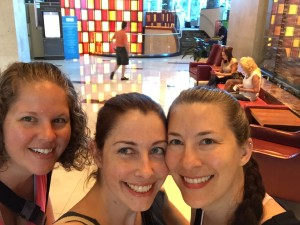 Heather, Karen and myself in the Lobby of Hyatt Regency Orlando