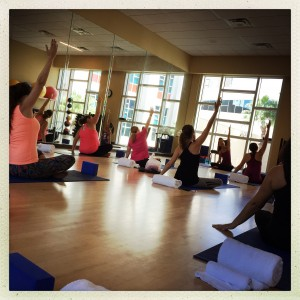 CFLB enjoying a Yoga Class in the StayFit™ Gym Fitness Studio at the Hyatt Regency Orlando