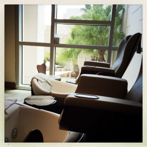 Pedicure view at the Spa at Hyatt Regency