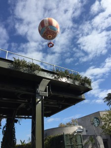 The Aéro30, hand-painted helium balloon that floats 400 feet into the sky