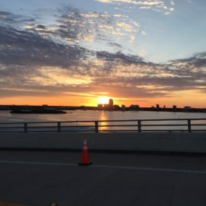 Iron Girl Half Marathon 2016 1st Bridge Sunrise